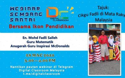 Sembang Santai Bersama Ikon Pendidikan : Cikgu Fadli di Mata Rakyat Malaysia