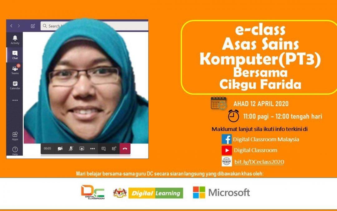 Asas Sains Komputer (PT3) bersama-sama Cikgu Farida